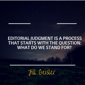 Editorial Judgment